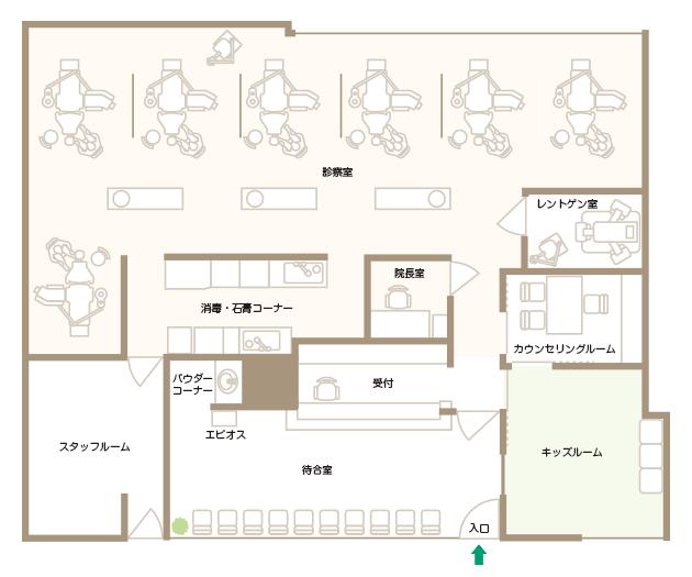 ピア・デンタルクリニック平面図
